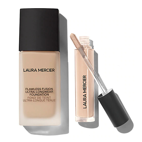 价值$77!Laura Mercier 无暇粉底液+遮瑕液