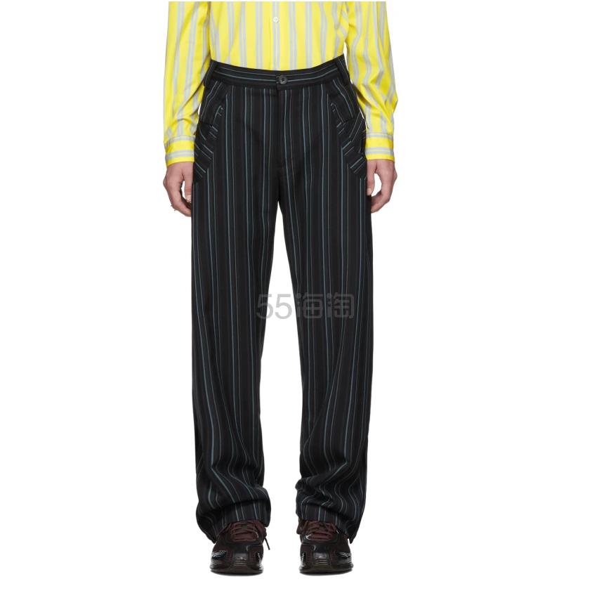 【阿貌同款】Kiko Kostadinov 海军蓝条纹休闲裤 3(约5,661元) - 海淘优惠海淘折扣|55海淘网