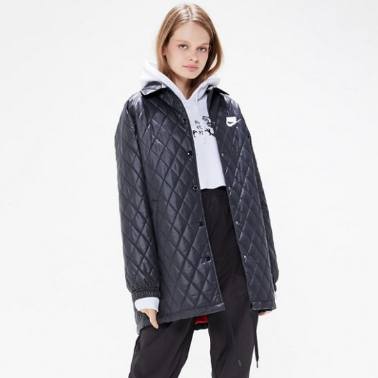 Nike 耐克 Sportswear Quilted Mac Jacket 绗缝长款夹袄