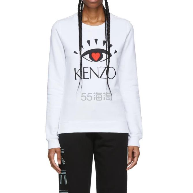 Kenzo 限量版眼睛白色长袖 3(约927元) - 海淘优惠海淘折扣|55海淘网