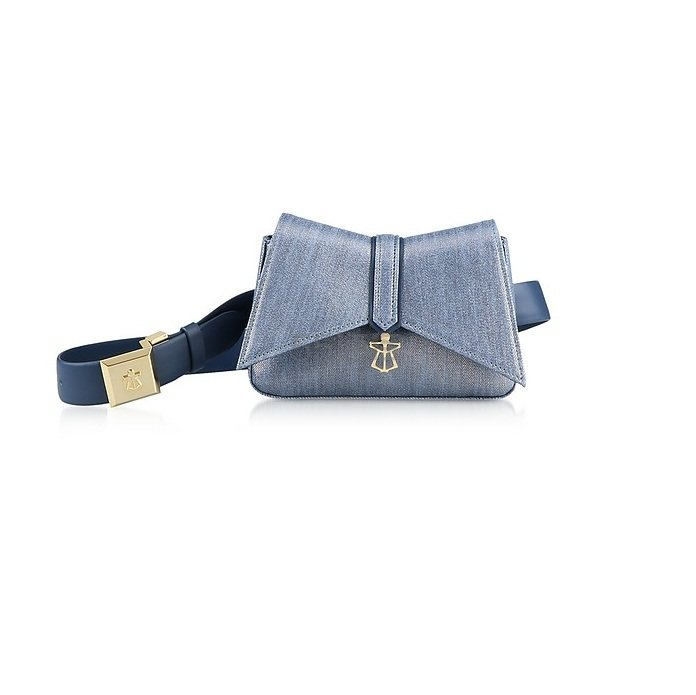 LARA BELLINI Denim Blue Kiki Micro Belt Bag 牛仔腰包