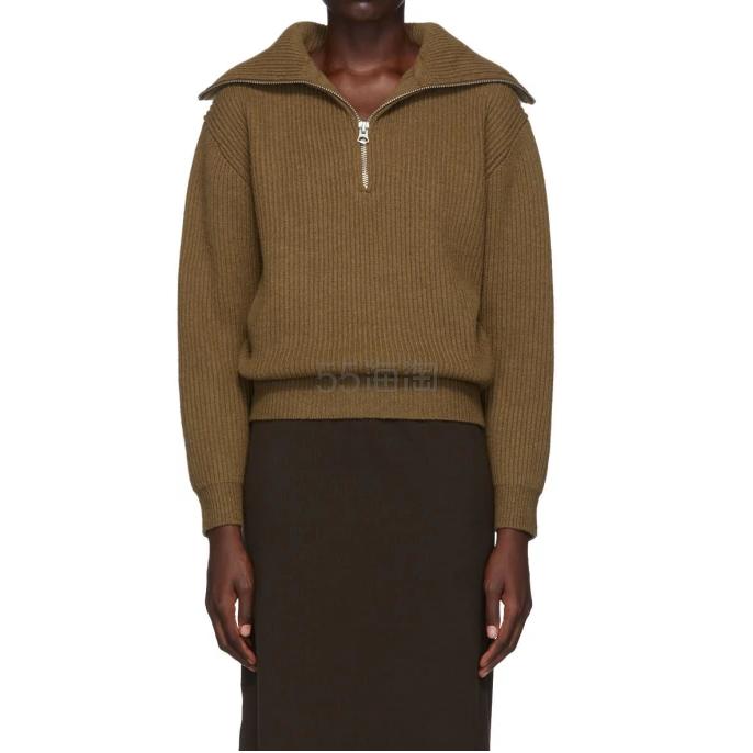 Acne Studios 棕色拉链毛衣 1(约2,358元) - 海淘优惠海淘折扣|55海淘网