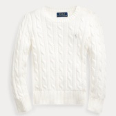 Ralph Lauren 拉夫劳伦 Cable-Knit Cotton Sweater 2-6岁女童针织衫