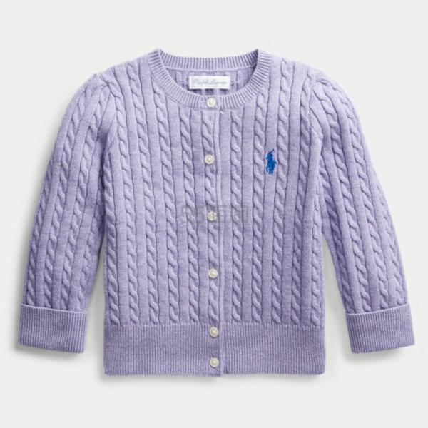 Ralph Lauren 拉夫劳伦 Cable-Knit Cotton Cardigan 婴儿开衫 .33(约78元) - 海淘优惠海淘折扣|55海淘网