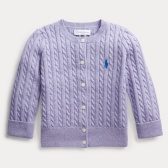 Ralph Lauren 拉夫劳伦 Cable-Knit Cotton Cardigan 婴儿开衫