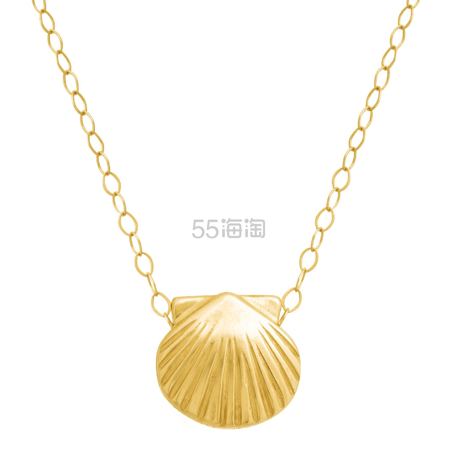 ETERNITY GOLD 14K 黄金贝壳项链 (约616元) - 海淘优惠海淘折扣|55海淘网