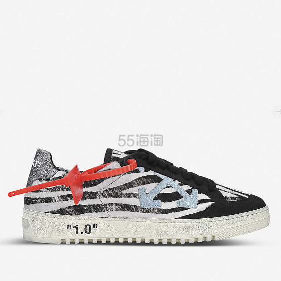 OFF-WHITE C/O VIRGIL ABLOH 箭头图案皮革运动鞋 £339.5(约3,123元) - 海淘优惠海淘折扣|55海淘网