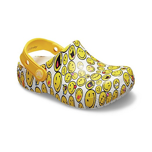 Crocs 卡骆驰 Kids' Crocs Fun Lab Smiley 儿童洞洞鞋