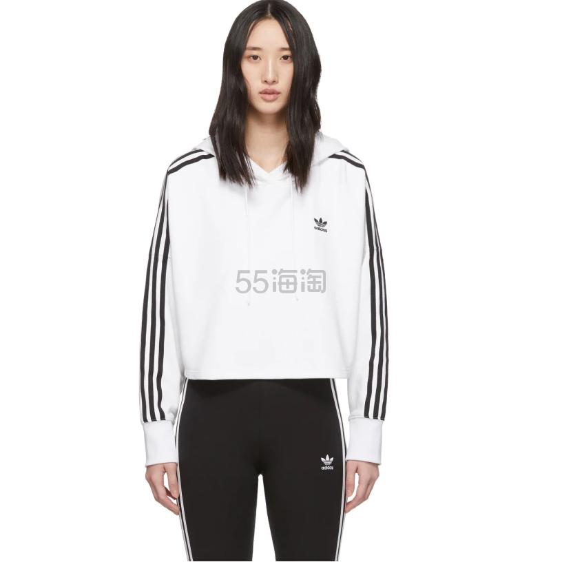 adidas Originals 白色短款卫衣 .9(约366元) - 海淘优惠海淘折扣|55海淘网