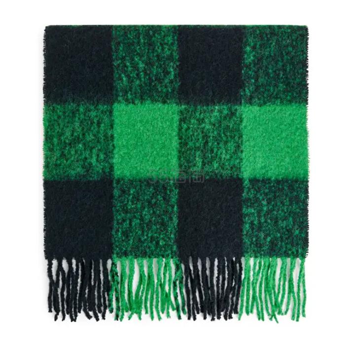ARKET 绿色格纹围巾 £35(约318元) - 海淘优惠海淘折扣|55海淘网