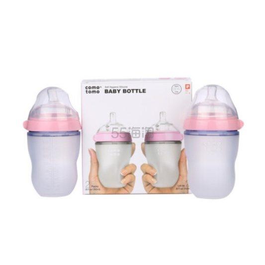 【京东PLUS会员】Comotomo 可么多么婴幼儿宽口径硅胶奶瓶 3-6个月 粉色 250ml*2支*4套 599元包邮包税(合75元/支) - 海淘优惠海淘折扣|55海淘网