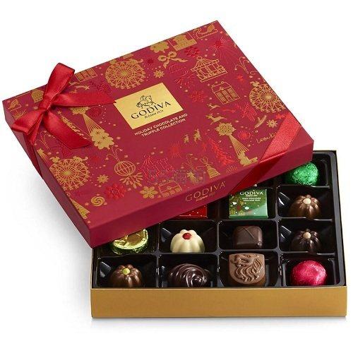 Godiva 歌帝梵 什锦巧克力节日礼物盒 16颗 .98(约95元) - 海淘优惠海淘折扣|55海淘网