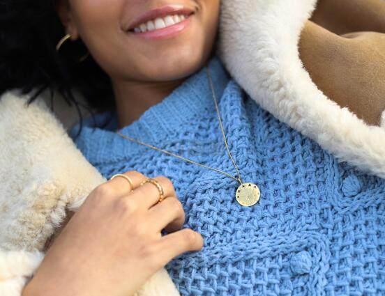 Missoma Amulet 护身符系列 LUCK 幸运七芒星金色吊坠 £47.2(约408元) - 海淘优惠海淘折扣|55海淘网