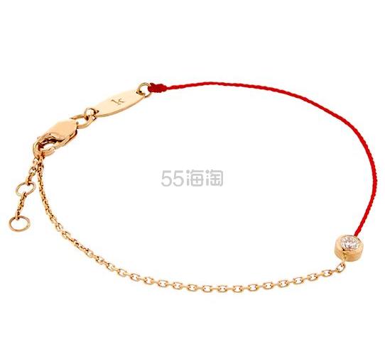 超多明星同款 Redline 幸运红绳钻石玫瑰金手链 3.81(约3,758元) - 海淘优惠海淘折扣|55海淘网