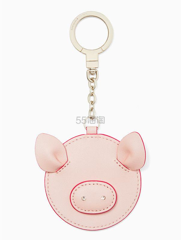 Kate Spade Pig Keyfob 小猪钥匙扣 (约396元) - 海淘优惠海淘折扣|55海淘网