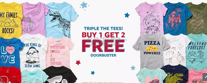 Carters 卡特美国官网:童装T恤衫 买一送二 - 海淘优惠海淘折扣|55海淘网