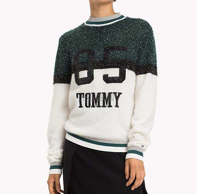 Tommy Hilfiger 83拼接装饰圆领毛衣 .99(约605元) - 海淘优惠海淘折扣|55海淘网