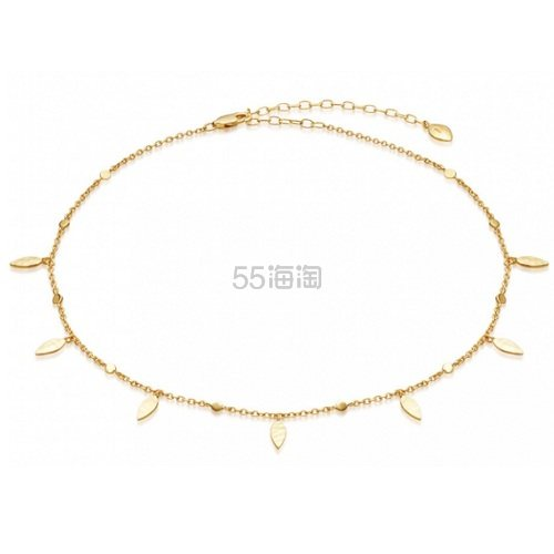 Missoma 18ct 镀金复古叶子颈链 £71.2(约622元) - 海淘优惠海淘折扣|55海淘网