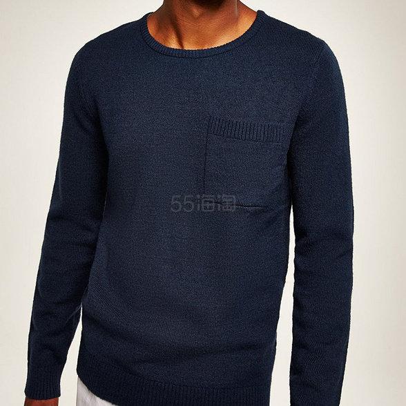 Tommy Hilfiger  海军蓝男士基础款毛衫 £30(约267元) - 海淘优惠海淘折扣|55海淘网