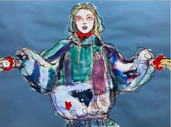 2019 巴黎秋冬时装周   Undercover 由恐怖电影 Suspiria 汲取的灵感, 阴风阵阵! - 海淘优惠海淘折扣 55海淘网