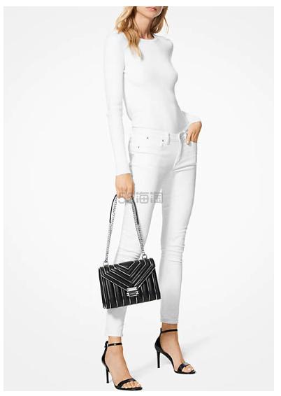 最后四个!Michael Kors Whitney 黑色链条包 3.99(约1,435元) - 海淘优惠海淘折扣|55海淘网