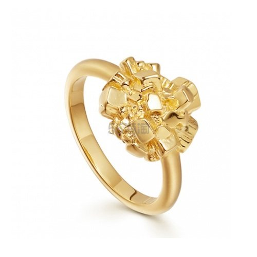 Missoma 18ct 镀金复古阿贡星戒指 £46(约405元) - 海淘优惠海淘折扣|55海淘网