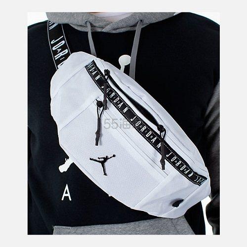 Jordan 乔丹 Taping 斜挎两用腰包 白色 (约168元) - 海淘优惠海淘折扣|55海淘网