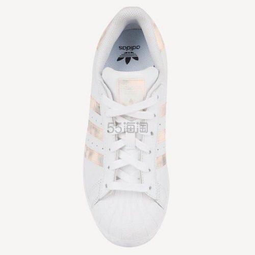 adidas Originals 三叶草 Superstar 大童款板鞋 粉镭射 .99(约404元) - 海淘优惠海淘折扣 55海淘网