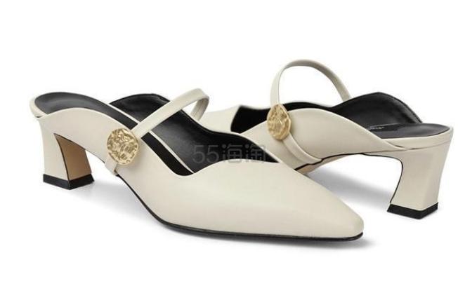 RACHEL COX 波浪边一字带拼接真皮女士中跟穆勒鞋 ¥942.62 - 海淘优惠海淘折扣 55海淘网