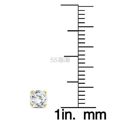 SZUL 1/3克拉钻石14k白金耳钉 7(约1,054元) - 海淘优惠海淘折扣|55海淘网