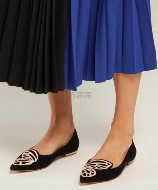SOPHIA WEBSTER Bibi 蝴蝶刺绣平底鞋 €195.5(约1,473元) - 海淘优惠海淘折扣 55海淘网