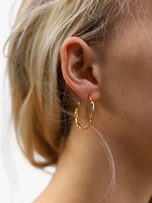 Missoma 18ct 镀金不规则半圆环耳环 £82.8(约730元) - 海淘优惠海淘折扣|55海淘网