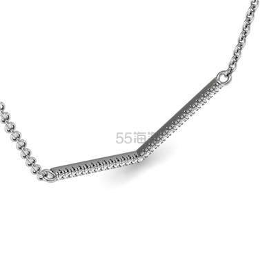 SZUL 1/5 克拉钻石 V 型 925 银项链 0.25(约673元) - 海淘优惠海淘折扣|55海淘网