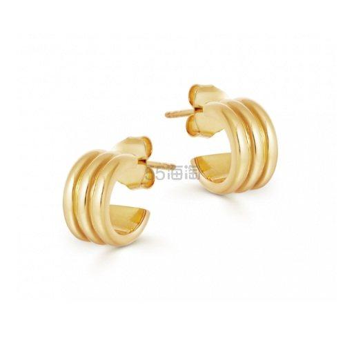 Missoma 18ct 镀金复古螺旋迷你半圆环耳环 £52(约452元) - 海淘优惠海淘折扣|55海淘网