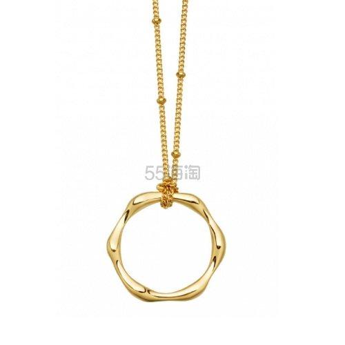 Missoma 金色扭曲圆环吊坠项链 £103.2(约916元) - 海淘优惠海淘折扣 55海淘网