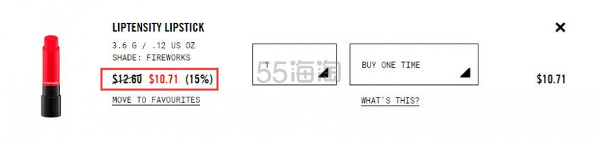 【史低价】热门色有货!MAC 魅可立体凝彩唇膏 油画棒口红 .71(约74元) - 海淘优惠海淘折扣|55海淘网