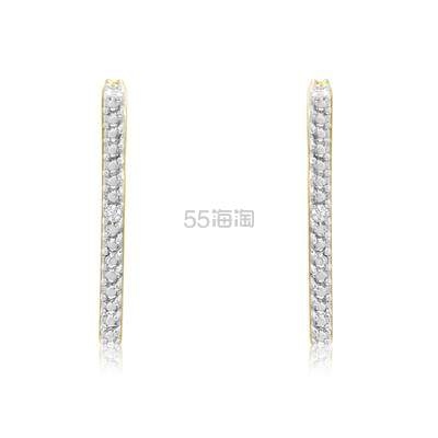 SZUL 钻石金色方形耳环 .38(约161元) - 海淘优惠海淘折扣|55海淘网
