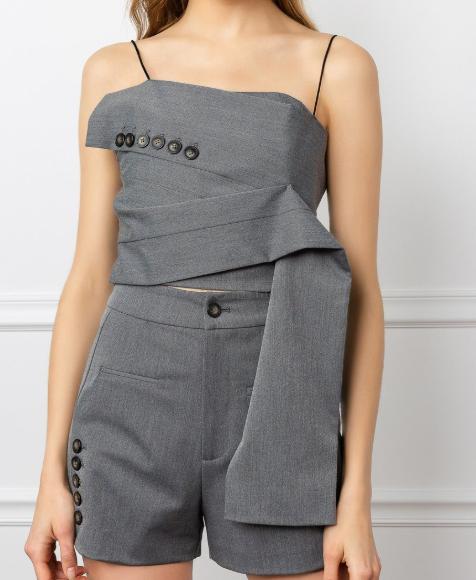 J.ING 不规则设计感吊带短裤套装 7.6(约814元) - 海淘优惠海淘折扣|55海淘网