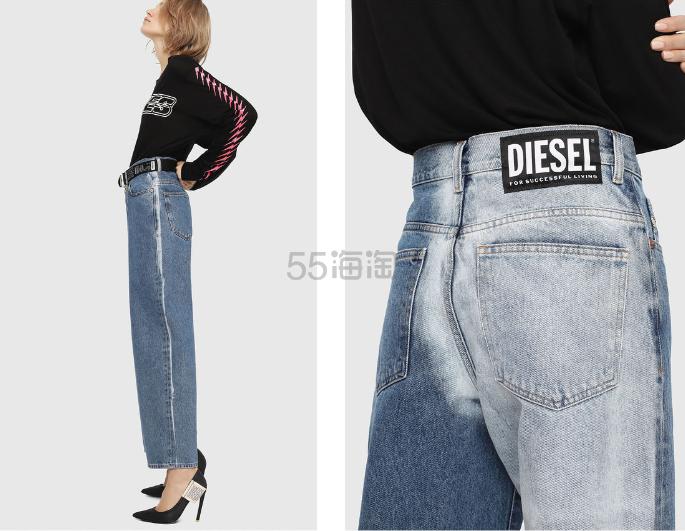 Diesel 个性不对称拼接款直筒牛仔裤 9.6(约1,102元) - 海淘优惠海淘折扣 55海淘网