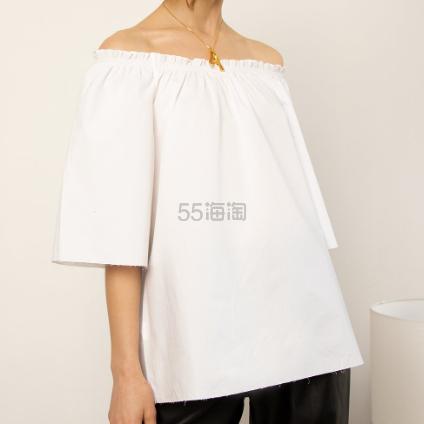 Pixie Market 蝴蝶结露背白色上衣 (约242元) - 海淘优惠海淘折扣|55海淘网