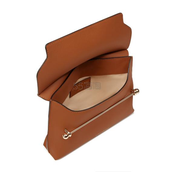 Strathberry East/West Stylist 百搭巧克力棕单肩包 £255(约2,236元) - 海淘优惠海淘折扣|55海淘网