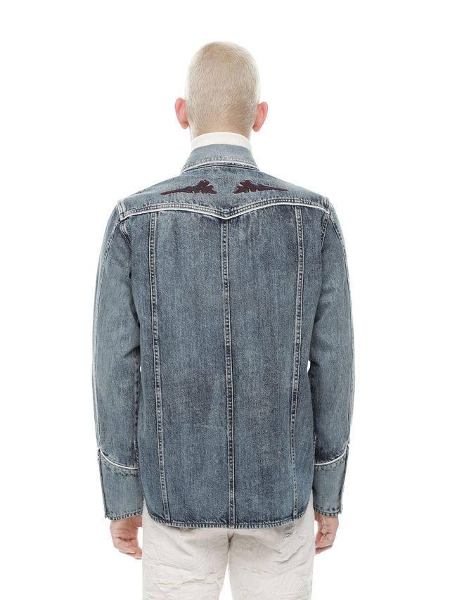 Diesel Black Gold 系列做旧牛仔衬衫 7(约1,636元) - 海淘优惠海淘折扣 55海淘网