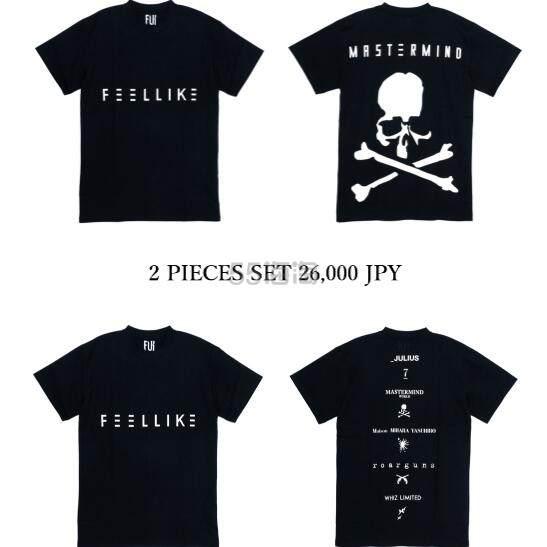 Mastermind X FEELLIKE 联名款潮牌T恤 2件装 码全 26,000日元(约1,659元) - 海淘优惠海淘折扣|55海淘网