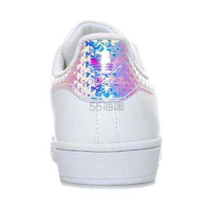 【立享8.5折+免邮中国】Adidas Originals Superstar 炫彩镭射贝壳头大童款 £39.86(约347元) - 海淘优惠海淘折扣|55海淘网
