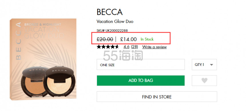becca 迷你高光套组 £14(约121元) - 海淘优惠海淘折扣|55海淘网