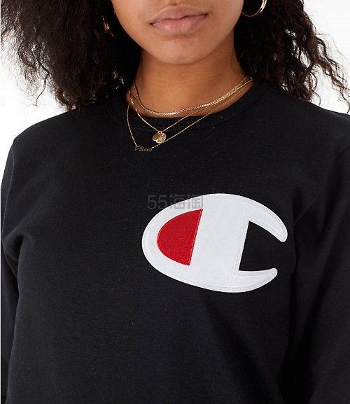 【断码福利】Champion 冠军 女款 Logo圆领卫衣 S码 (约104元) - 海淘优惠海淘折扣|55海淘网
