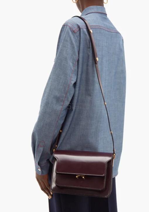 MARNI Trunk 中号酒红色包包 €1,218(约9,412元) - 海淘优惠海淘折扣|55海淘网
