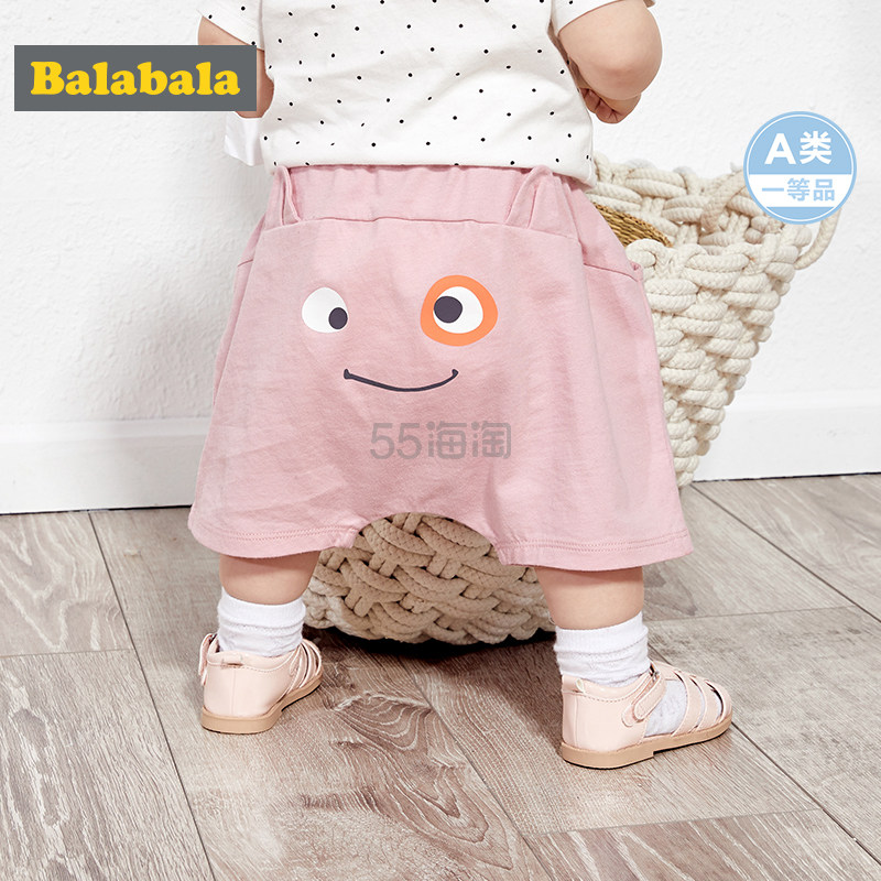 Balabala 巴拉巴拉 婴儿裤子/宝宝短裤/萌趣印花PP裤 多色 到手价59.9元 - 海淘优惠海淘折扣|55海淘网