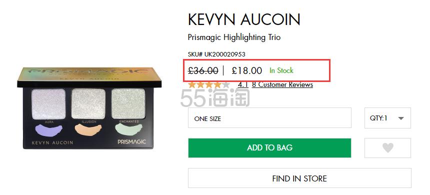 5折! KEVYN AUCOIN 三色偏光高光盘 £18(约157元) - 海淘优惠海淘折扣|55海淘网
