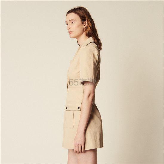 Sandro 工装风短袖口袋连衣裙 7.6(约1,222元) - 海淘优惠海淘折扣|55海淘网